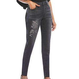 Kut From The Kloth Mia Embroidered Jeans NWT